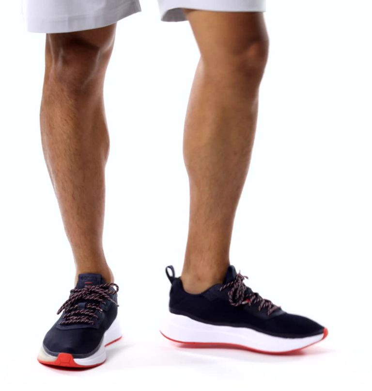 LOW DRAG™ PFG | 464 | 17 Men's PFG Low Drag™ Shoe, Collegiate Navy, Tangy Orange, video
