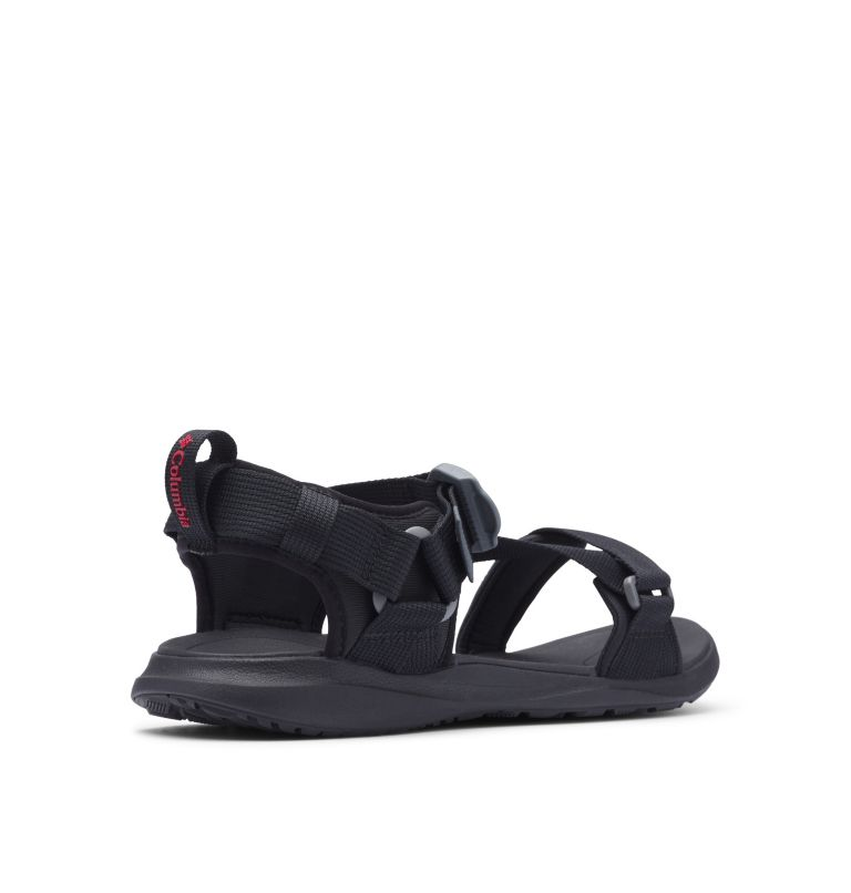 COLUMBIA™ SANDAL | 010 | 11 Sandali Columbia™ da uomo, Black, Red Element, 3/4 back