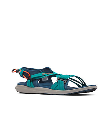 Women's Columbia™ Sandal COLUMBIA™ SANDAL | 608 | 10, Petrol Blue, Zing, 3/4 front