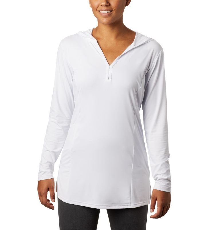 Chill River™ Hooded Tunic   100   XL Women's Chill River™ Hooded Tunic, White, front