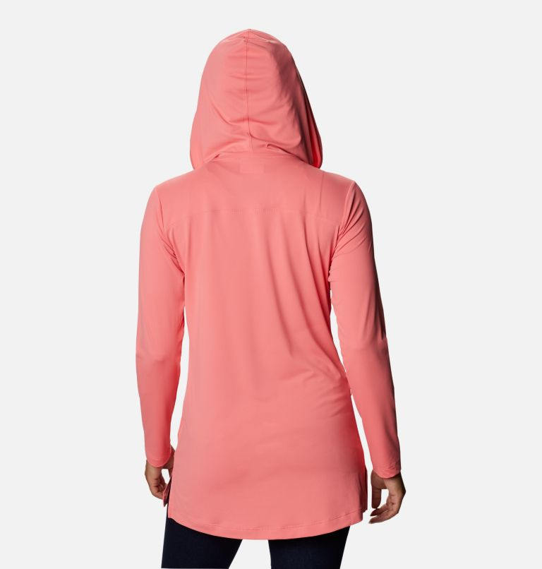 Chill River™ Hooded Tunic   699   XS Women's Chill River™ Hooded Tunic, Salmon, back