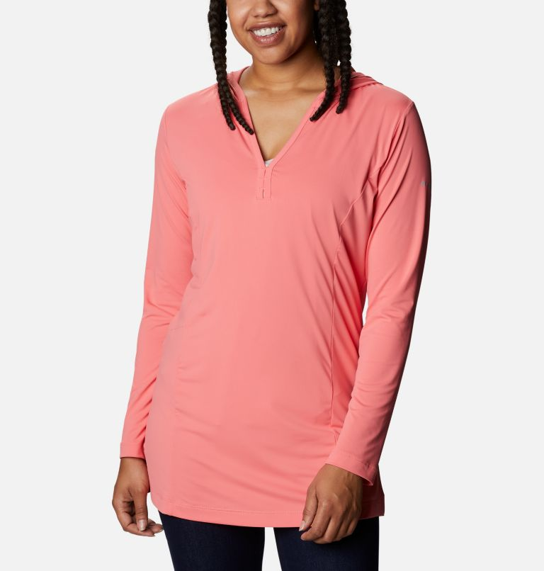 Chill River™ Hooded Tunic   699   XS Women's Chill River™ Hooded Tunic, Salmon, front