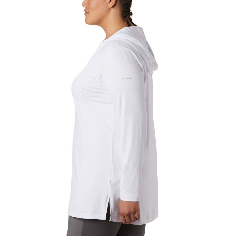 Chill River™ Hooded Tunic   100   2X Women's Chill River™ Hooded Tunic - Plus, White, a1