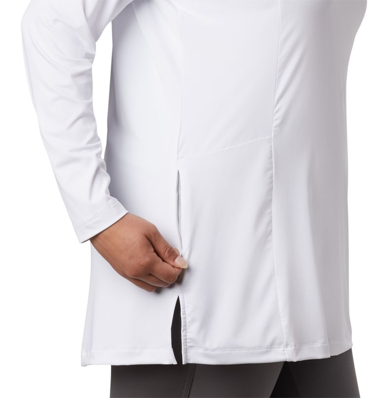 Chill River™ Hooded Tunic   100   2X Women's Chill River™ Hooded Tunic - Plus, White, a3