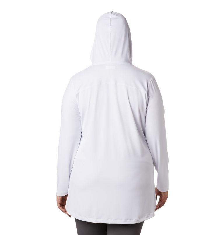 Chill River™ Hooded Tunic   100   2X Women's Chill River™ Hooded Tunic - Plus, White, back