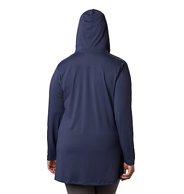 Tunique à capuchon Chill River™ pour femme – Grandes tailles Chill River™ Hooded Tunic | 100 | 1X, Nocturnal, back