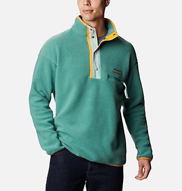 Unisex Helvetia™ Streetwear Fleece Helvetia™ Half Snap Fleece | 101 | XS, Thyme Green, Aqua Tone, front