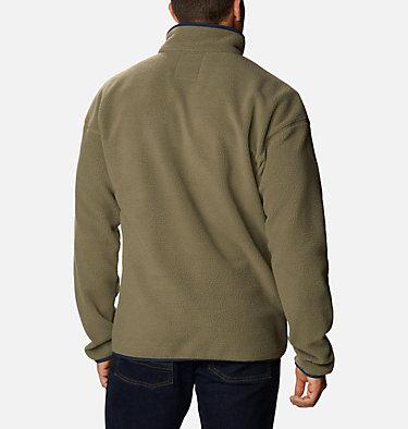 Unisex Helvetia™ Streetwear Fleece Helvetia™ Half Snap Fleece | 101 | XS, Stone Green, Ancient Fossil, back