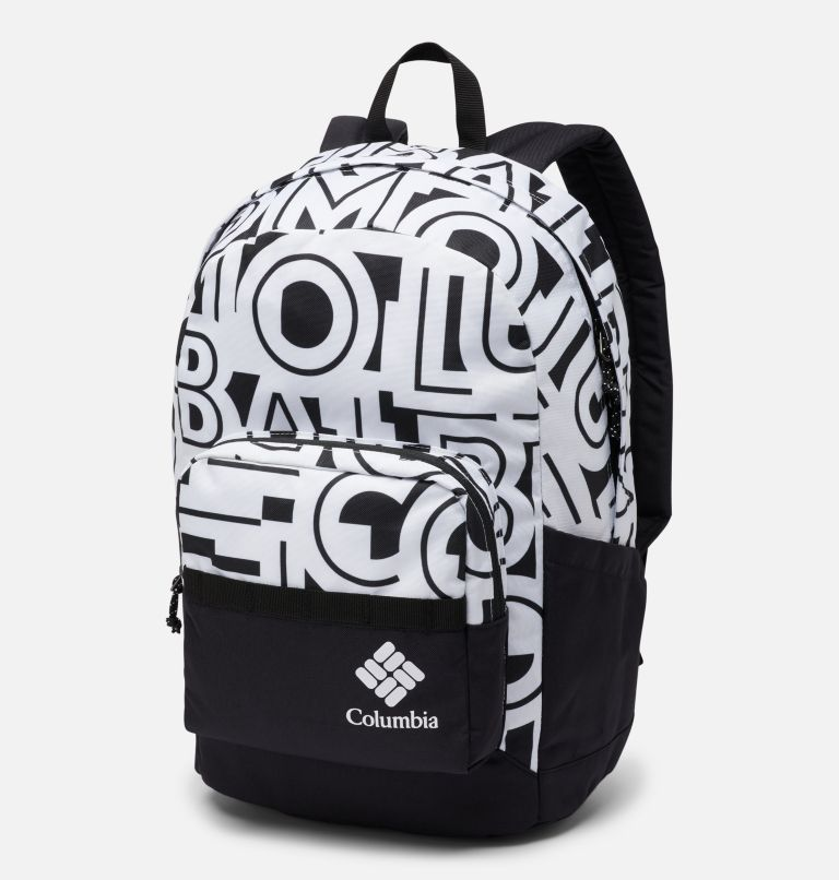 Zigzag™ 22L Backpack | 100 | O/S Zigzag™ 22L Backpack, White Typo, Black, front