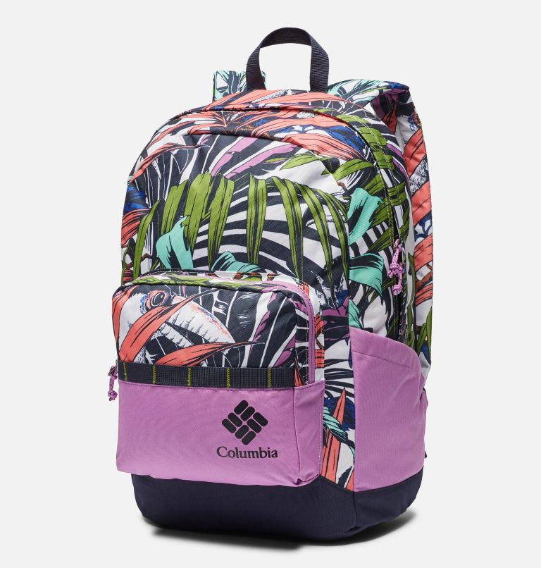Zigzag™ 22L Backpack | 101 | O/S Zigzag™ 22L Backpack, White Toucanical, Blossom Pink, front