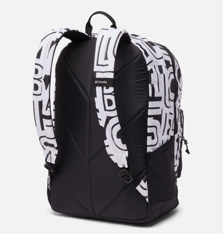Zigzag™ 30L Backpack | 100 | O/S Zigzag™ 30L Backpack, White Typo, Black, back