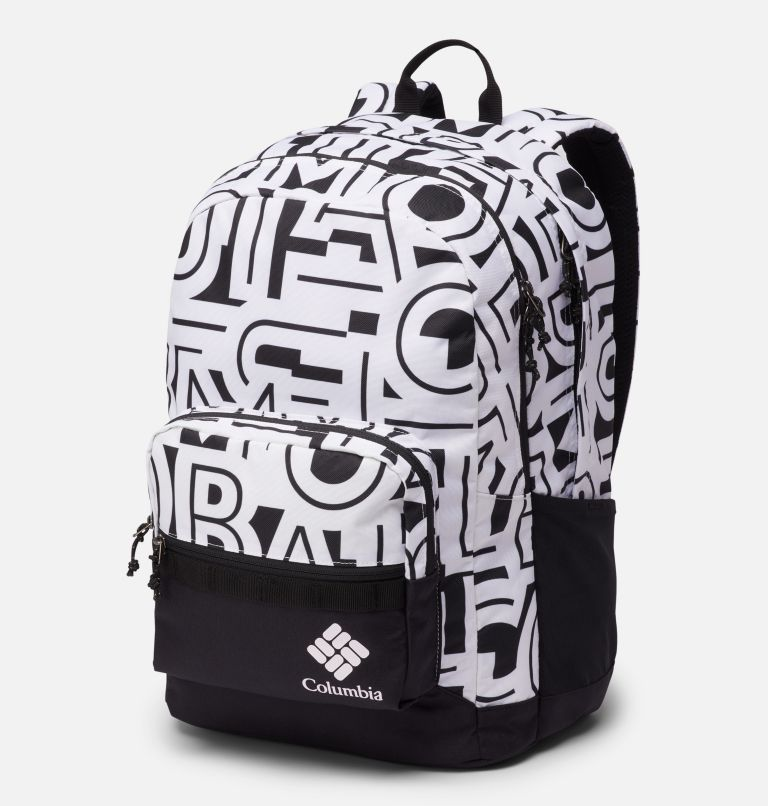 Zigzag™ 30L Backpack | 100 | O/S Zigzag™ 30L Backpack, White Typo, Black, front