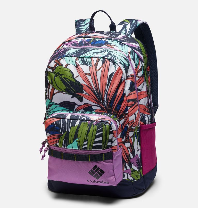 Zigzag™ 30L Backpack   101   O/S Zigzag™ 30L Backpack, White Toucanical, Blossom Pink, front