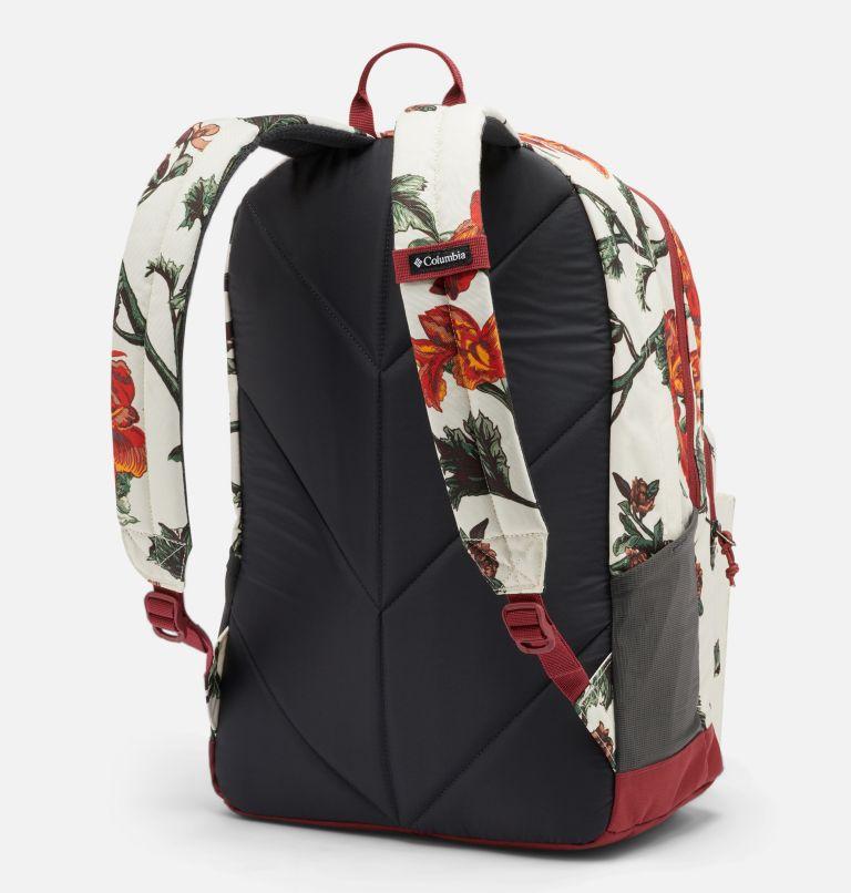 Zigzag™ 30L Backpack   191   O/S Zigzag™ 30L Backpack, Chalk Botanica, Marsala Red, back