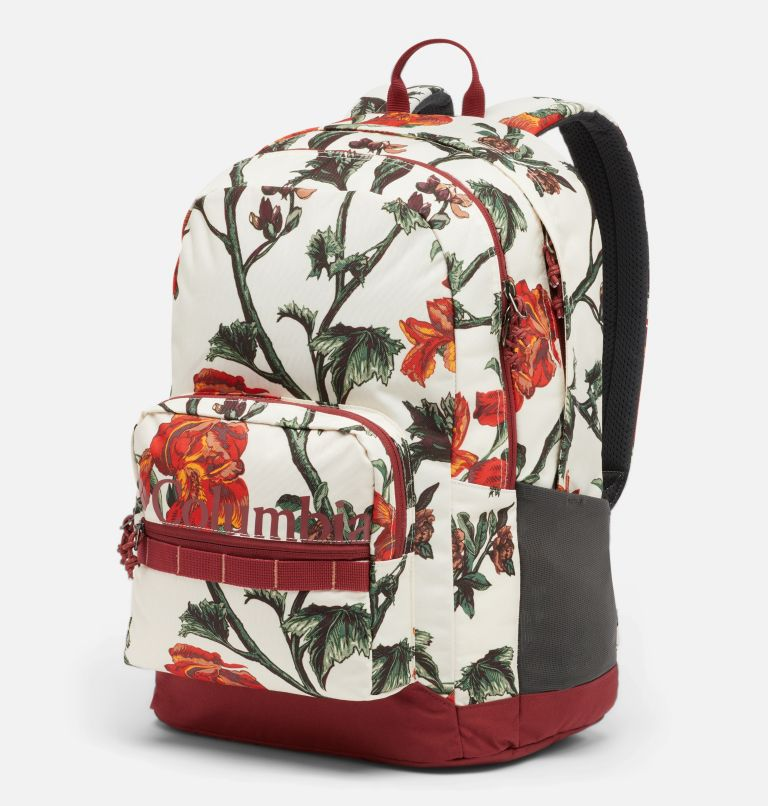 Zigzag™ 30L Backpack   191   O/S Zigzag™ 30L Backpack, Chalk Botanica, Marsala Red, front