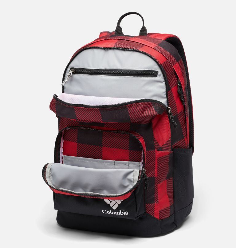 Zigzag™ 30L Backpack | 613 | O/S Zigzag™ 30L Backpack, Mountain Red Check Print, Black, a2
