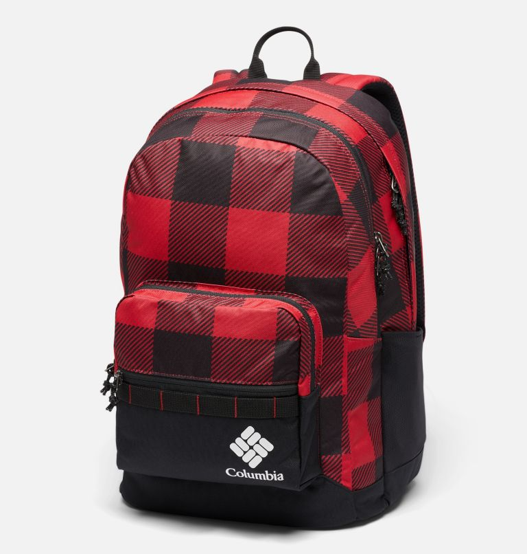 Zigzag™ 30L Backpack | 613 | O/S Zigzag™ 30L Backpack, Mountain Red Check Print, Black, front