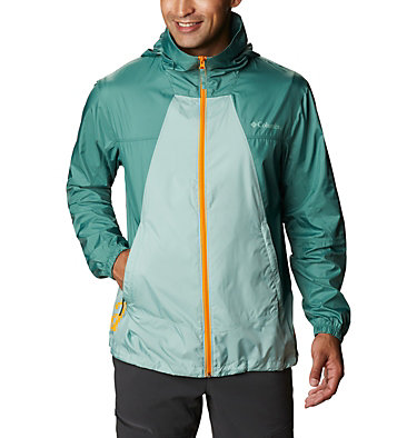 Men's Point Park™ Windbreaker Point Park™ Windbreaker | 023 | L, Aqua Tone, Thyme Green, front