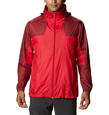 Men's Point Park™ Windbreaker Point Park™ Windbreaker | 023 | L, Mountain Red, Red Jasper, front