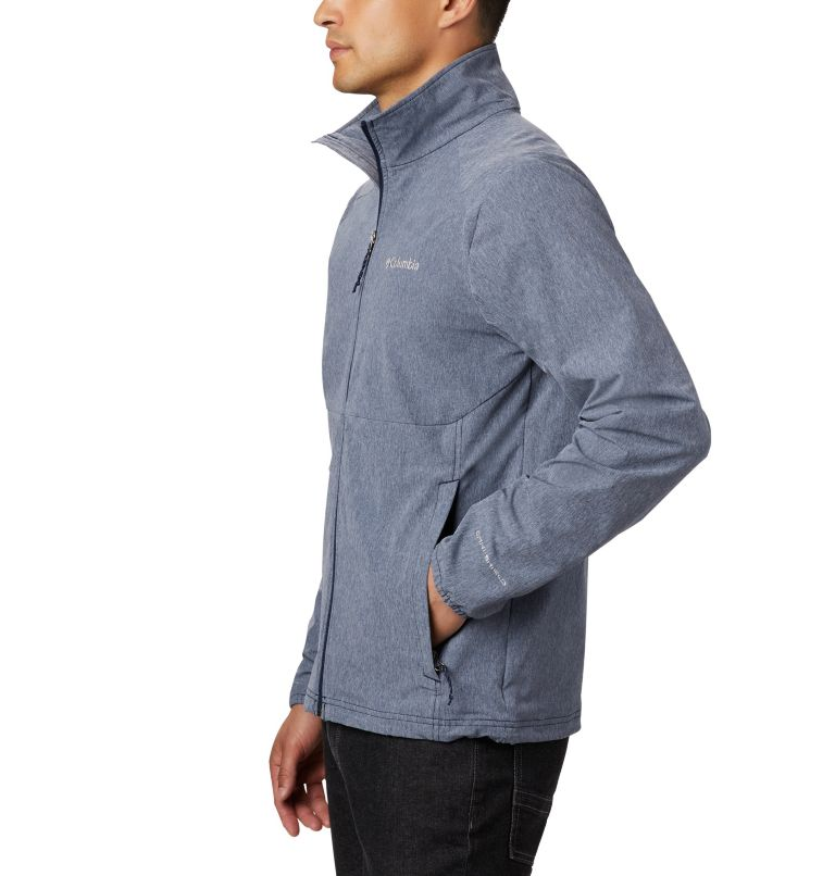 Heather Canyon™ Non Hooded Jacket | 465 | S Men's Heather Canyon™ Hoodless Jacket, Collegiate Navy Heather, a1