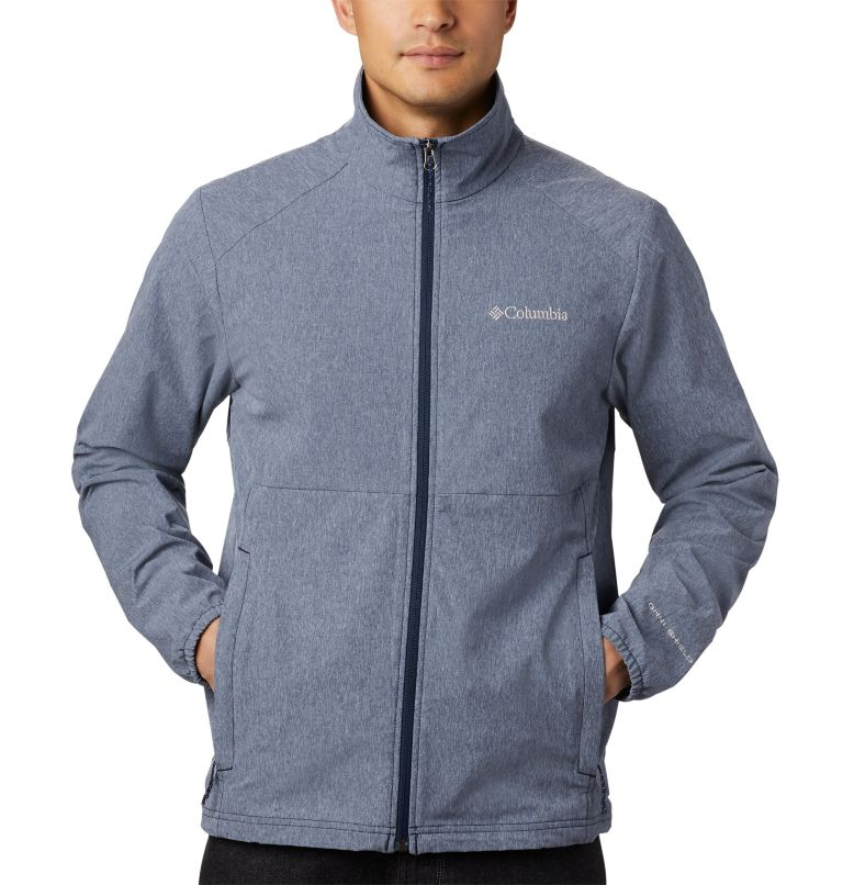 Heather Canyon™ Non Hooded Jacket | 465 | S Men's Heather Canyon™ Hoodless Jacket, Collegiate Navy Heather, a2