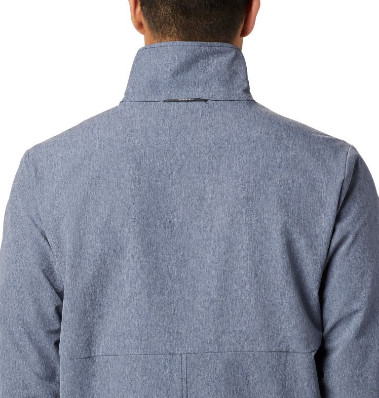 Heather Canyon™ Non Hooded Jacket | 465 | S Men's Heather Canyon™ Hoodless Jacket, Collegiate Navy Heather, a3