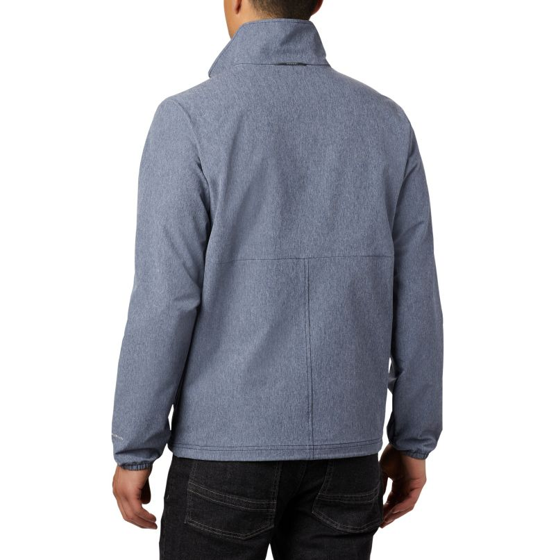 Heather Canyon™ Non Hooded Jacket | 465 | S Men's Heather Canyon™ Hoodless Jacket, Collegiate Navy Heather, back