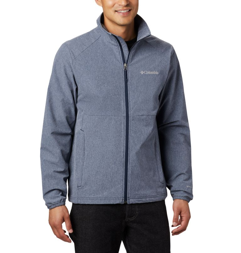 Heather Canyon™ Non Hooded Jacket | 465 | S Men's Heather Canyon™ Hoodless Jacket, Collegiate Navy Heather, front