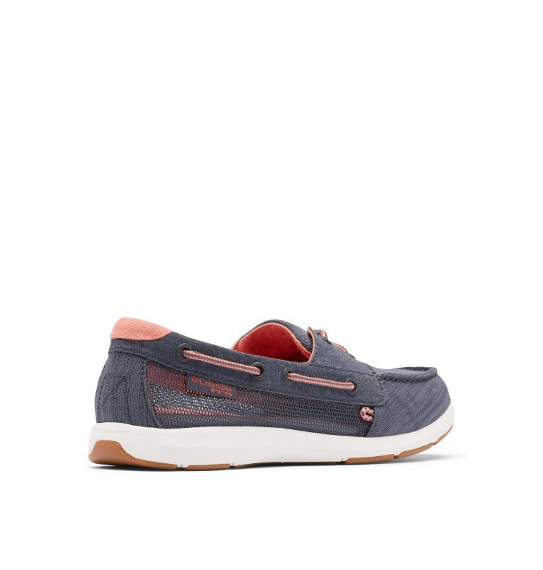 DELRAY™ LOCO II PFG | 053 | 7 Women's PFG Delray™ Loco II Shoe, Graphite, Faded Peach, 3/4 back