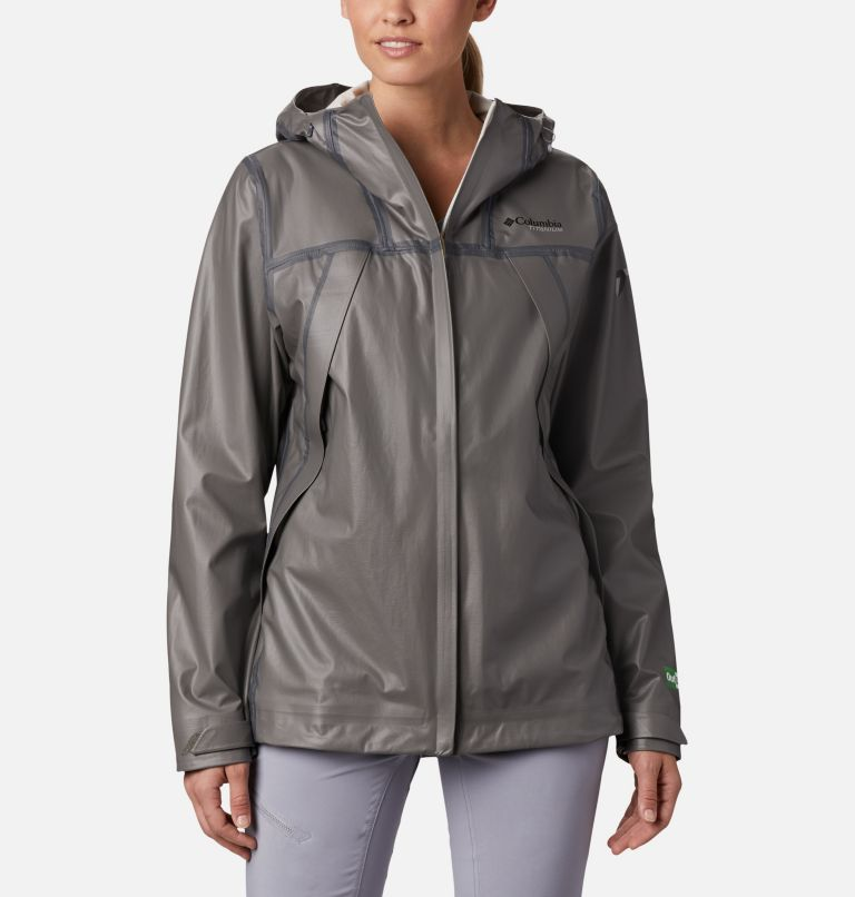 OutDry Ex™ ECO Shell | 023 | M Women's OutDry™ Ex Eco Shell, City Grey, front