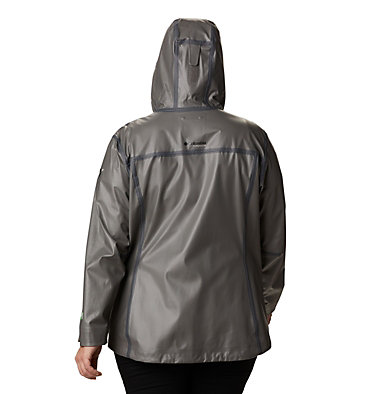 Manteau OutDry™ Ex Eco pour femme – Grandes tailles OutDry Ex™ ECO Shell | 023 | 1X, City Grey, back