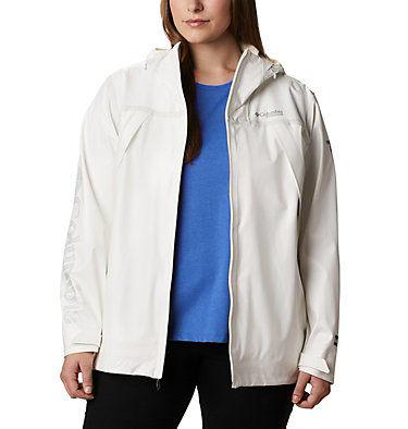 Women's OutDry™ Ex Eco Shell - Plus Size OutDry Ex™ ECO Shell | 023 | 1X, White Undyed Energy, front