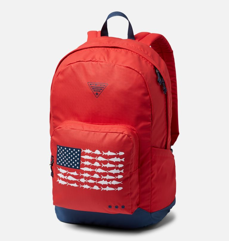 PFG Zigzag™ 22L Backpack | 696 | O/S PFG Zigzag™ 22L Backpack, Red Spark, Carbon, front