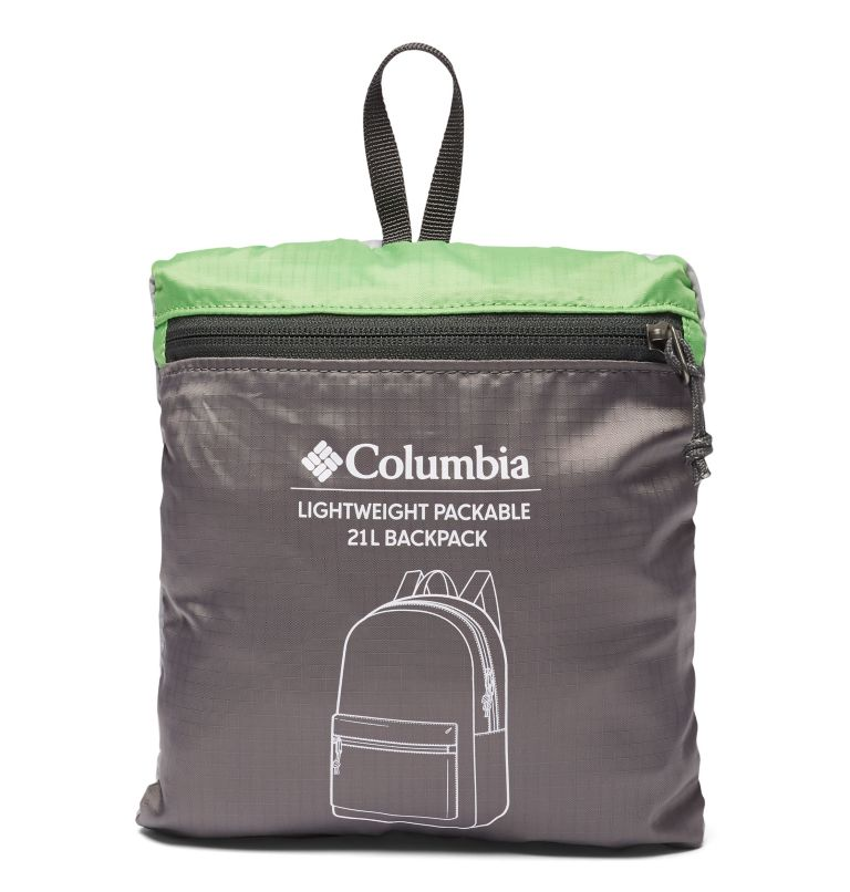 Lightweight Packable 21L Backpack | 039 | O/S Lightweight Packable 21L Backpack, Columbia Grey, Green Boa, a1