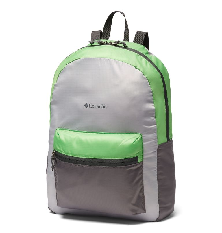 Lightweight Packable 21L Backpack | 039 | O/S Sac À Dos Compactable Léger 21 Litres, Columbia Grey, Green Boa, front