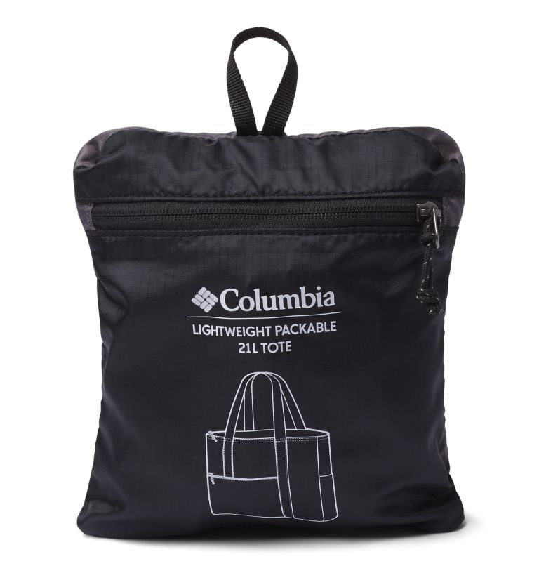 Lightweight Packable 21L Tote   010   O/S Unisex Lightweight Packable 18L Tote, Black, City Grey, a1