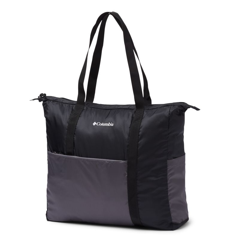 Lightweight Packable 21L Tote | 010 | O/S Unisex Lightweight Packable 18L Tote, Black, City Grey, front