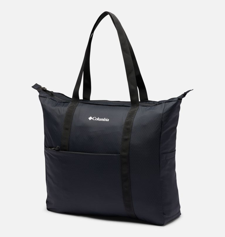 Lightweight Packable 21L Tote   011   O/S Unisex Lightweight Packable 18L Tote, Black, front
