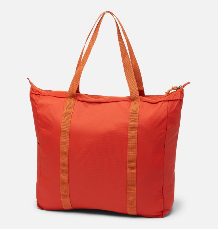 Lightweight Packable 21L Tote | 844 | O/S Unisex Lightweight Packable 18L Tote, Flame, back