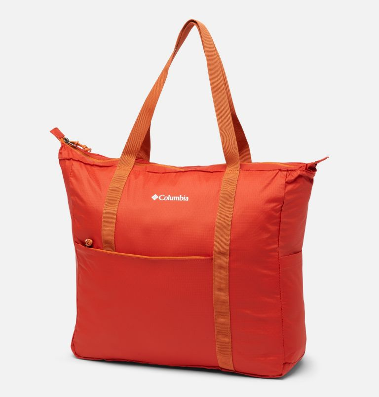 Lightweight Packable 21L Tote | 844 | O/S Unisex Lightweight Packable 18L Tote, Flame, front