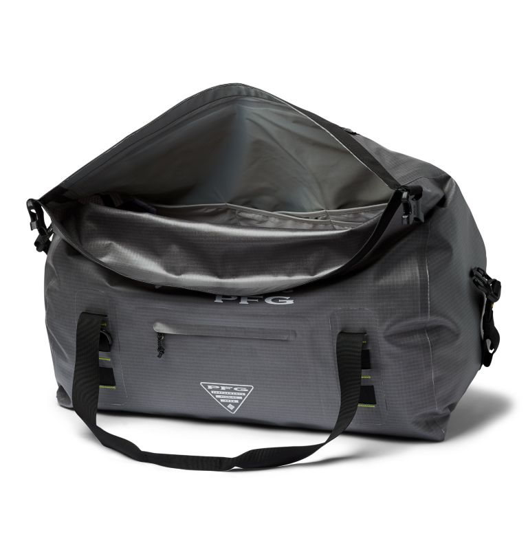 Force XII™ 65L Rolltop Duffle | 023 | O/S PFG Force XII™ 65L Rolltop Duffle, City Grey, Jade Lime, a1
