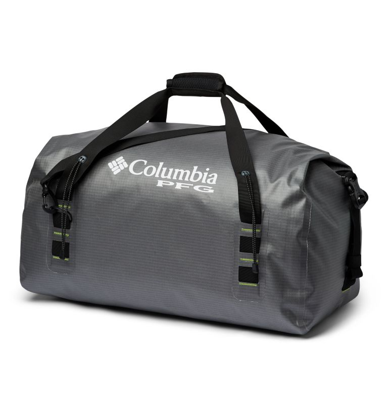 Force XII™ 65L Rolltop Duffle   023   O/S Force XII™ 65L Rolltop Duffle, City Grey, Jade Lime, back