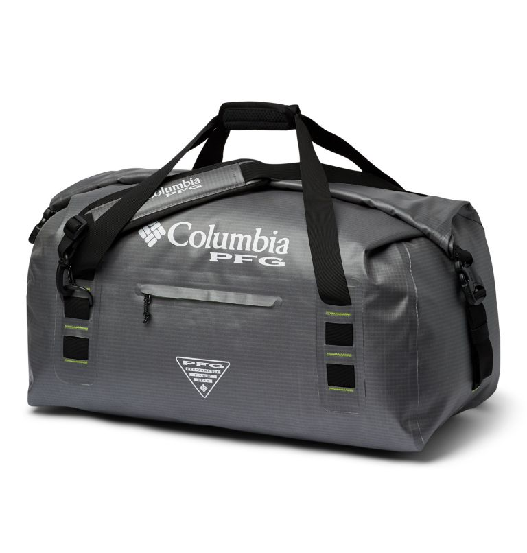Force XII™ 65L Rolltop Duffle | 023 | O/S PFG Force XII™ 65L Rolltop Duffle, City Grey, Jade Lime, front