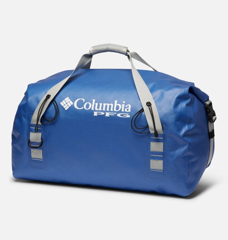 Force XII™ 65L Rolltop Duffle | 487 | O/S PFG Force XII™ 65L Rolltop Duffle, Vivid Blue, Cool Grey, back