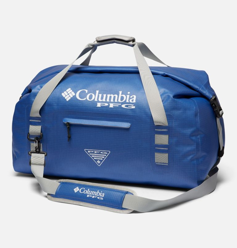 Force XII™ 65L Rolltop Duffle   487   O/S PFG Force XII™ 65L Rolltop Duffle, Vivid Blue, Cool Grey, front