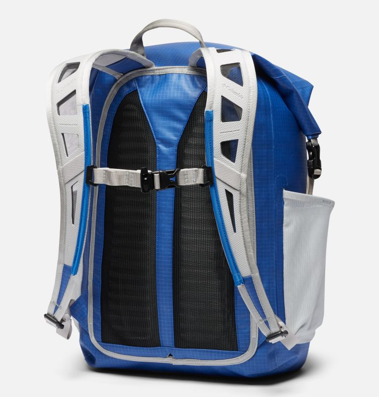 Force XII™ 35L Rolltop Backpack | 487 | O/S PFG Force XII™ 35L Rolltop Backpack, Vivid Blue, Cool Grey, back