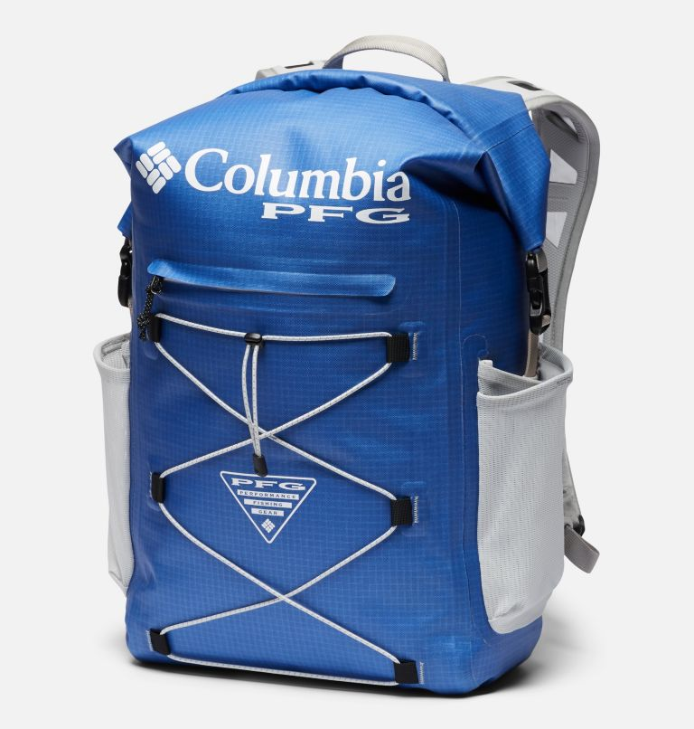 Force XII™ 35L Rolltop Backpack | 487 | O/S PFG Force XII™ 35L Rolltop Backpack, Vivid Blue, Cool Grey, front