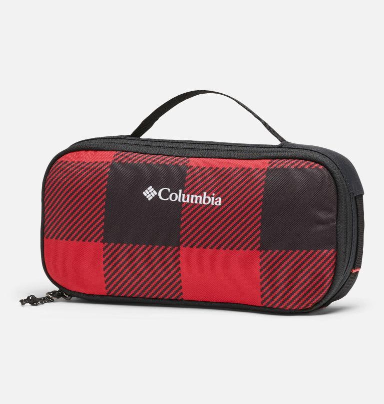 Accessory Case   613   O/S Sac pour accessoires, Mountain Red Check Print, Black, front