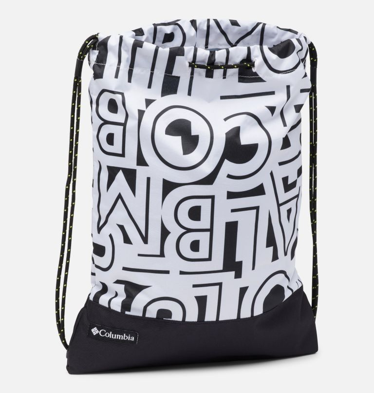 Drawstring Pack   100   O/S Drawstring Pack, White Typo, Black, a1
