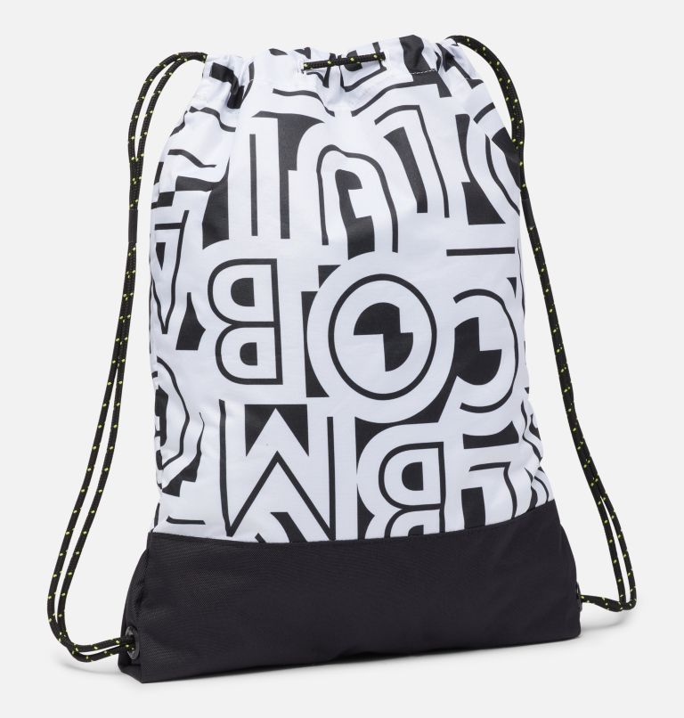 Drawstring Pack | 100 | O/S Sac à cordon de serrage, White Typo, Black, back